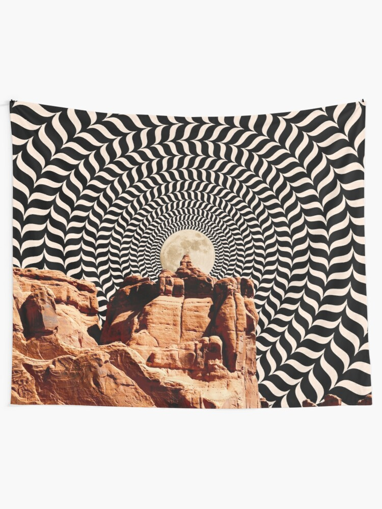 Alternate view of Illusionary Road Trip Tapestry