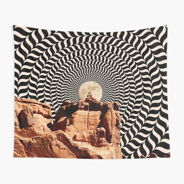 Illusionary Road Trip Tapestry