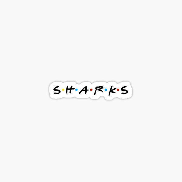 Sharks Are Friends Sticker