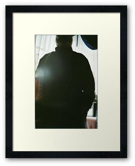 Dad Backlit in Restaurant  by Barnewitz