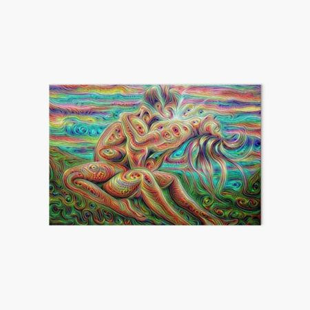 Cool trippy psychedelic love making  Art Board Print