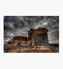 The Three Tanks Photographic Print