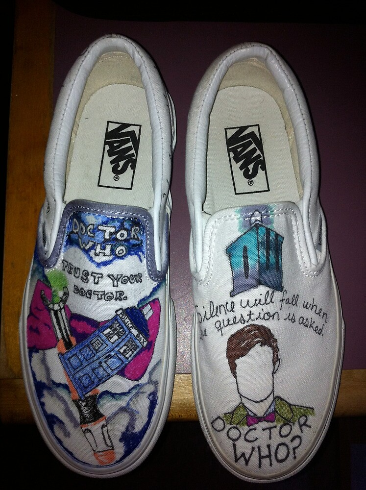 Doctor Who Shoes by ameliajulian
