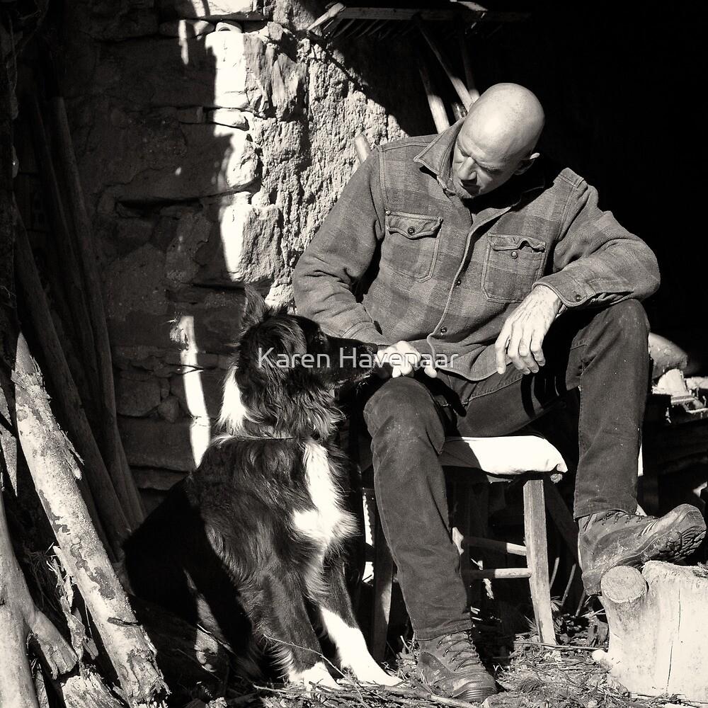 A man and his dog by Karen Havenaar