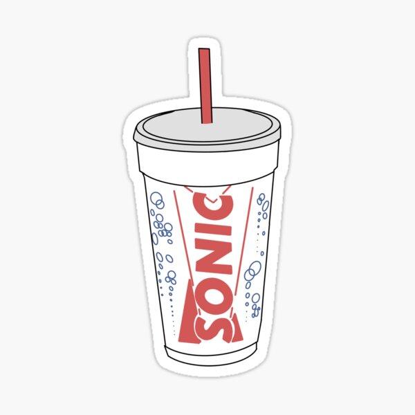 Sonic cup sticker Sticker