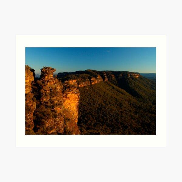 Boar's Head Rock, Katoomba. Art Print