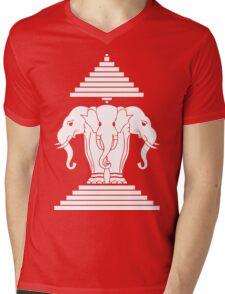 Erawan Lao / Laos Three Headed Elephant Mens V-Neck T-Shirt
