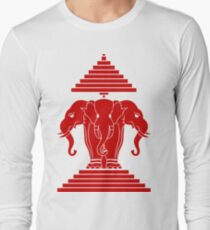 Erawan Lao / Laos Three Headed Elephant Long Sleeve T-Shirt