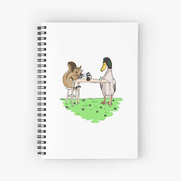 Squirrel and Mallard Spiral Notebook