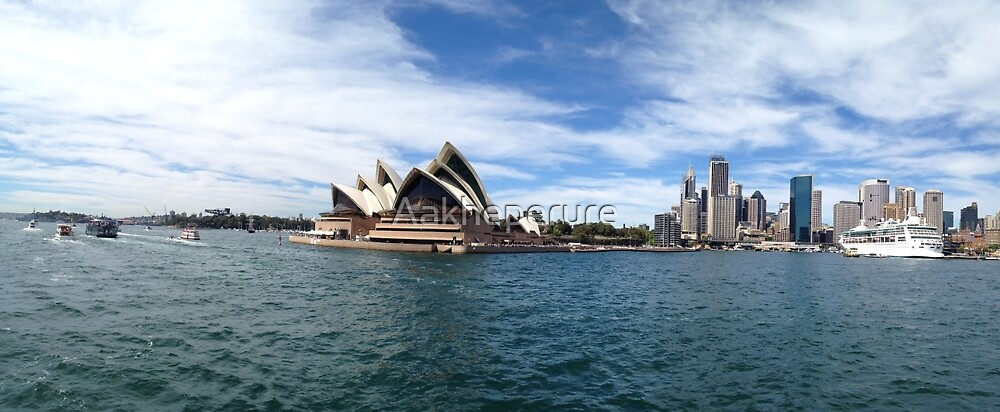 On Sydney Harbour by Aakheperure