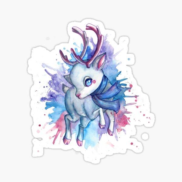 Colourful reindeer  Sticker