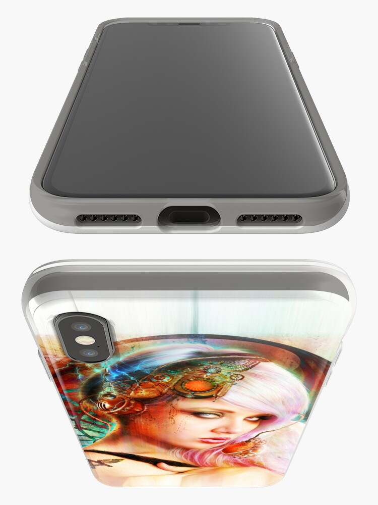 Alternate view of Astrid the Steampunk Navigatrix iPhone Cases & Covers