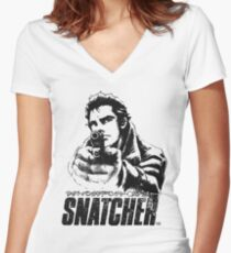 Snatcher Women's Fitted V-Neck T-Shirt