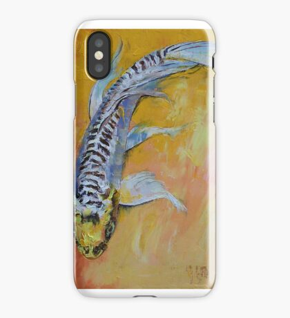 Yellow Dragon Koi iPhone Case