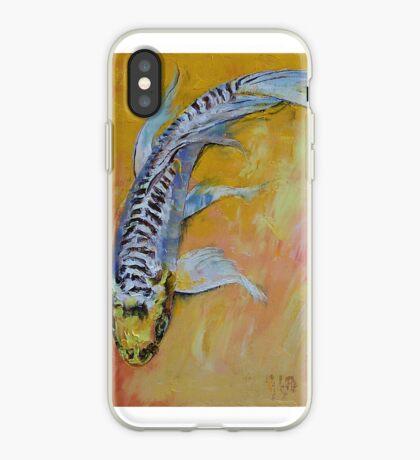 Yellow Dragon Koi iPhone Case