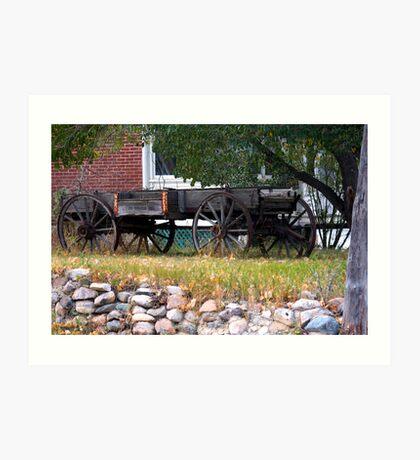 Workless Hay Wagon Art Print
