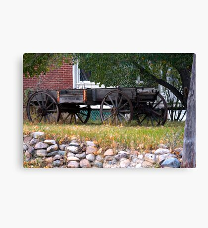 Workless Hay Wagon Canvas Print