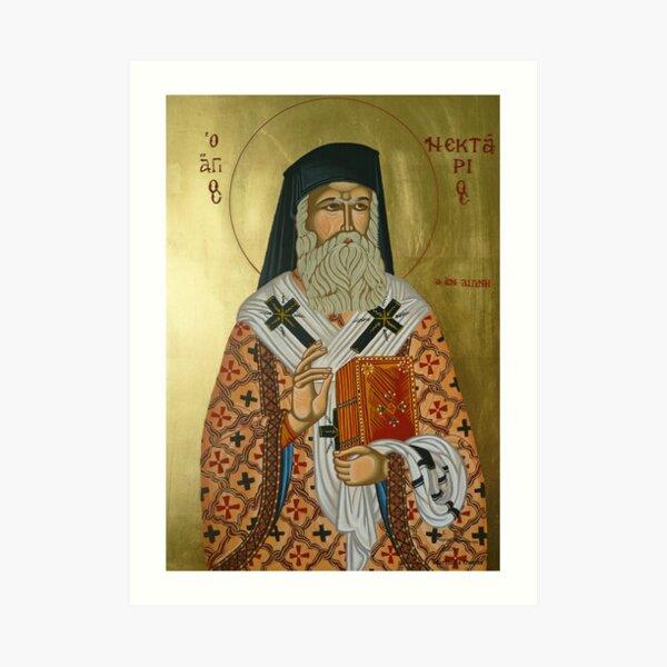"""Saint Nectarios """"Greek Icon"""" Art Print"""