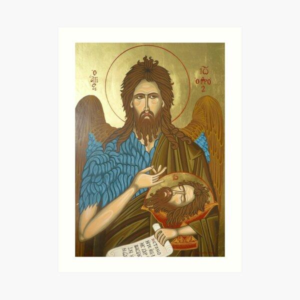 Saint Johannes Greek Icon Art Print