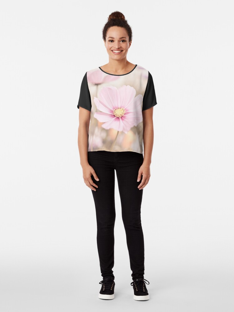 Alternate view of Pastel pink spring flowers photo Chiffon Top