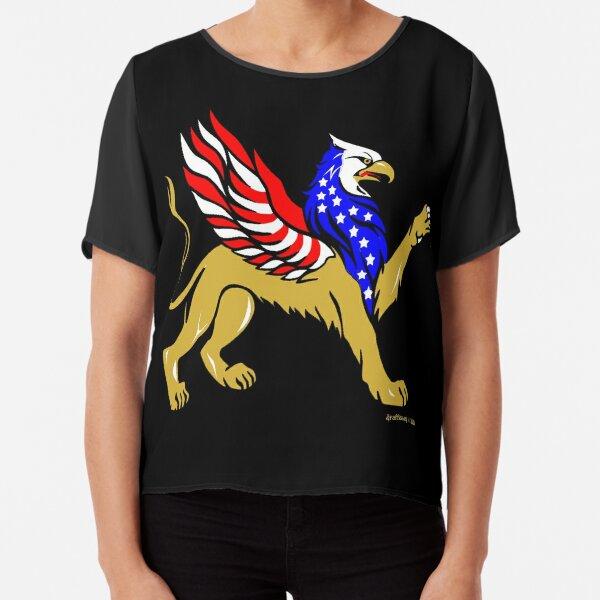 American Griffin Chiffon Top
