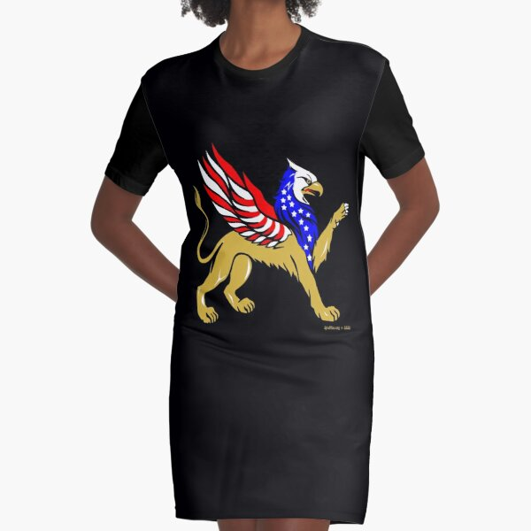 American Griffin Graphic T-Shirt Dress