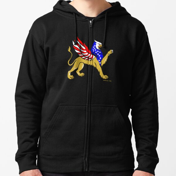 American Griffin Zipped Hoodie