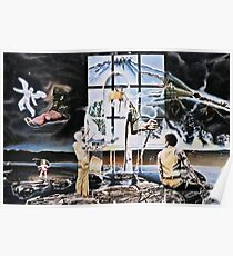 "Surrealism's Windows of Allegory - oil on canvas - 48"" x 32"" Poster"