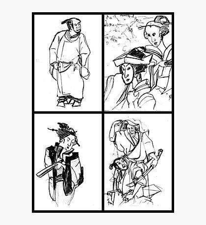 Geisha Girls - Drawings Photographic Print
