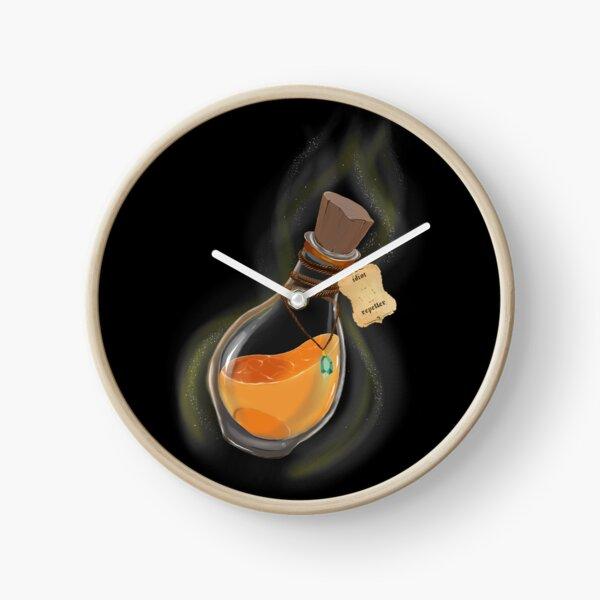 """Flask of Magic Potion """"Idiot Repeller"""" Horloge"""