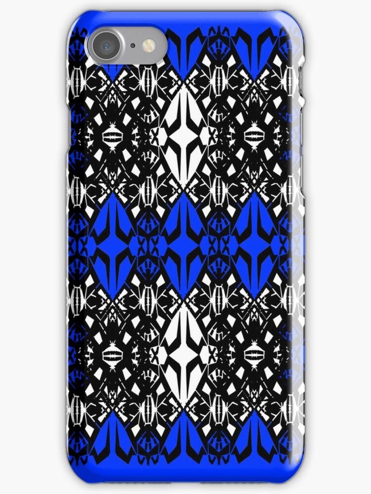 Blue tech pattern by Cranemann