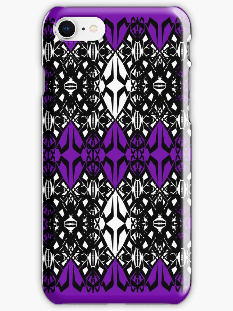 Purple tech pattern by Cranemann
