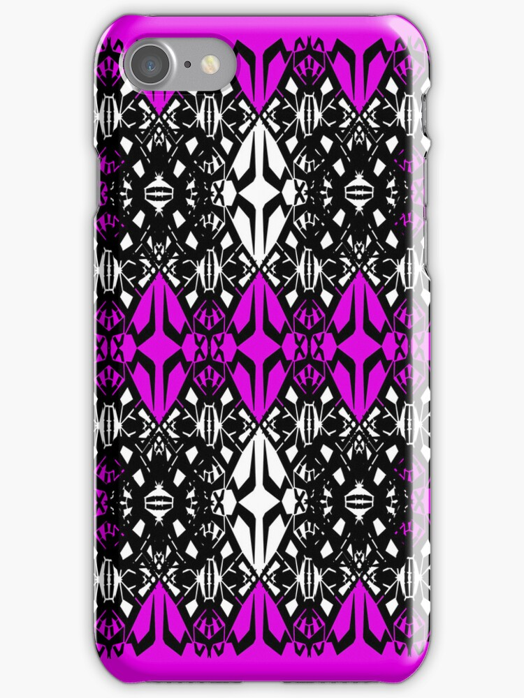 Pink tech pattern by Cranemann