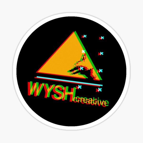 WYSHcreative 'Glitch' sticker Sticker