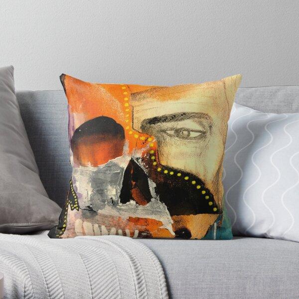 Unknown Portrait {Fractured Man} Throw Pillow
