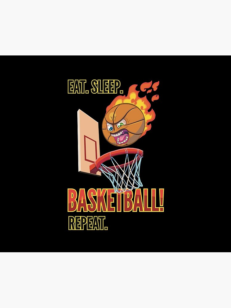 Mad Basketball - Eat. Sleep. Basketball! Repeat. by Kirkcartoons