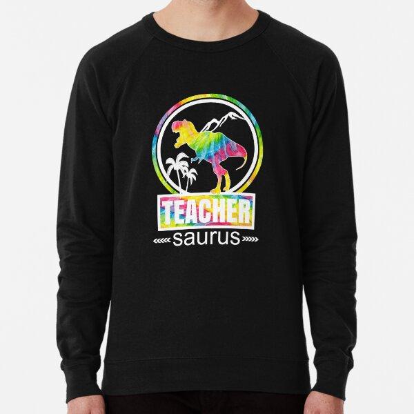 Teachersaurus Dinosaur Funny Teacher School Cute Design Lightweight Sweatshirt
