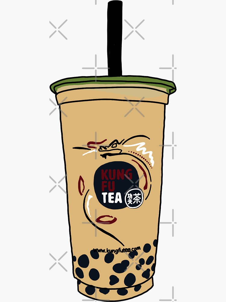 kung fu tea stickers redbubble redbubble