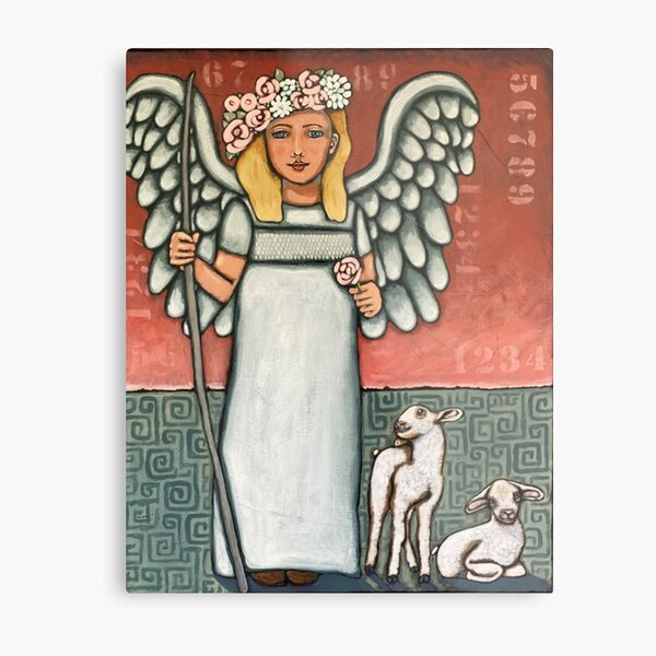 Salama; Count Your Blessings; fruit of the spirit angel  Metal Print