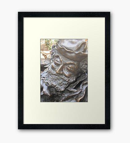 STATUA DI BRONZO A PARMA ITALIA - RB EXPLORE . 1500 VISUAL 2015 Framed Print