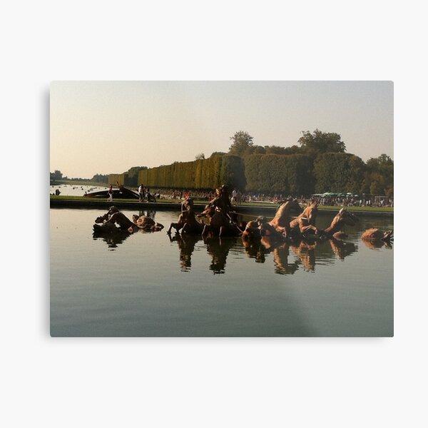 Versailles water 2 Metal Print