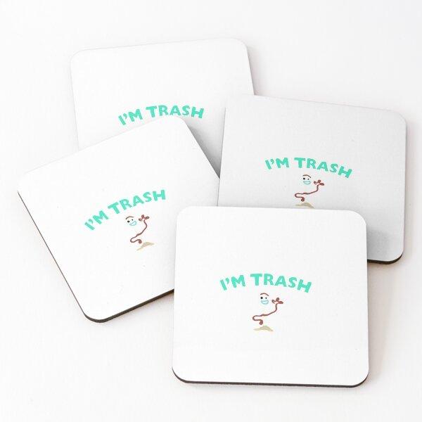 I'm Trash- Forky Coasters (Set of 4)