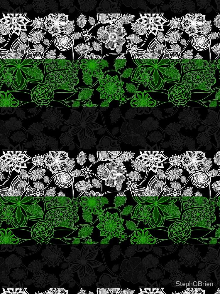 Flight Over Flowers of Fantasy - Neutrois Pride Flag by StephOBrien