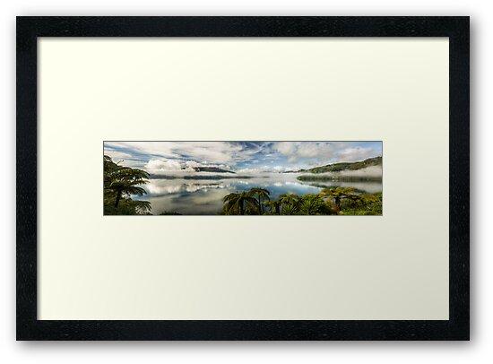 Tranquil Tarawera  (Pano) by Michael Treloar