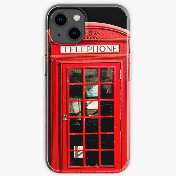 Red London Phone Box iPhone Soft Case