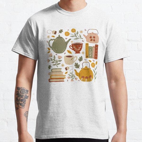 Flowery Books and Tea Classic T-Shirt