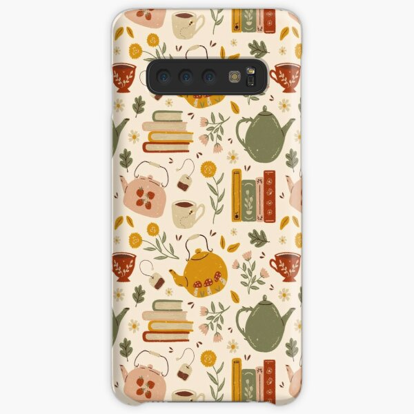 Flowery Books and Tea Samsung Galaxy Snap Case
