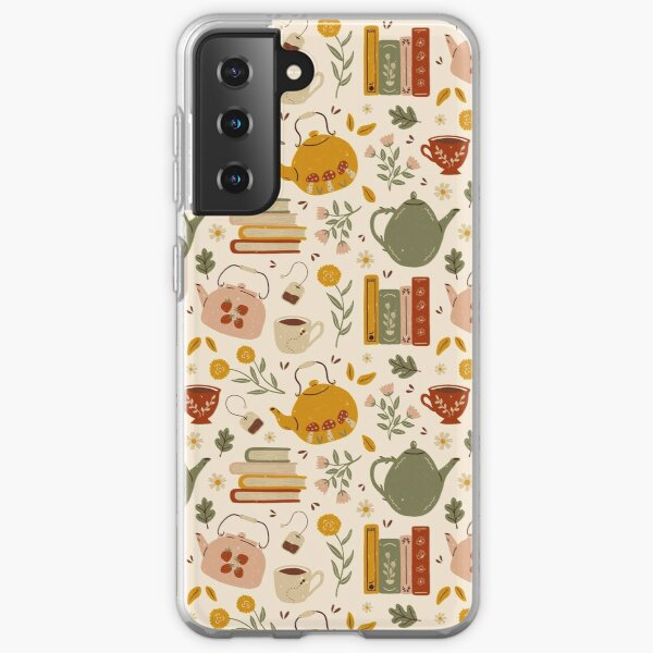 Flowery Books and Tea Samsung Galaxy Soft Case