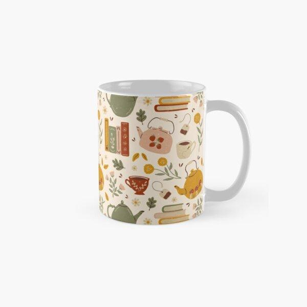 Flowery Books and Tea Classic Mug
