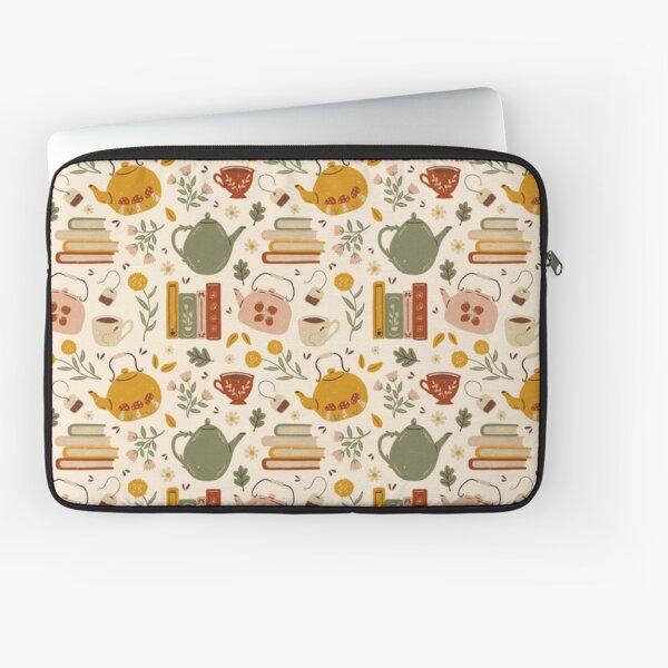 Flowery Books and Tea Laptop Sleeve